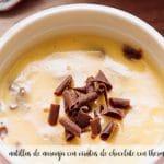 Natillas de naranja con virutas de chocolate con thermomix