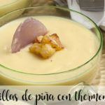 Natillas de piña natural con thermomix
