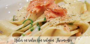 pasta con salmon y nata con thermomix