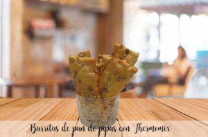 Barritas de pan de pipas con Thermomix