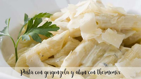 Pasta con gorgonzola y atun con thermomix