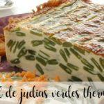 Pastel de judías verdes con thermomix