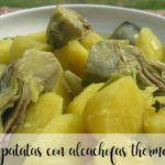 Patatas con alcachofas con thermomix