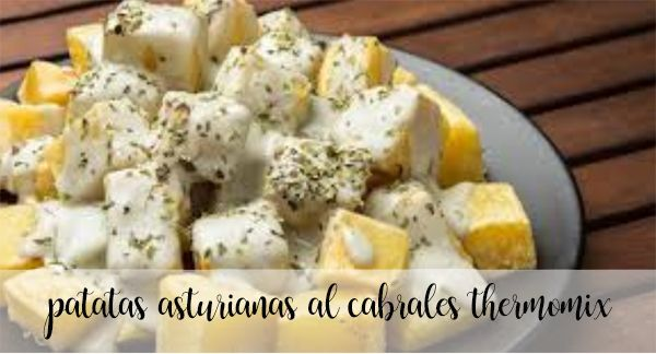 Patatas asturianas al queso de Cabrales con Thermomix