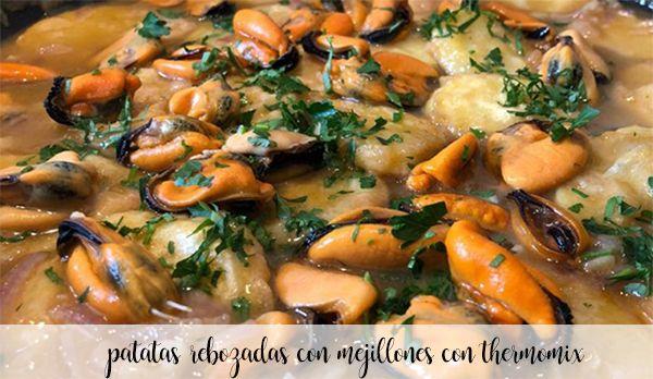 Patatas rebozadas con mejillones con Thermomix