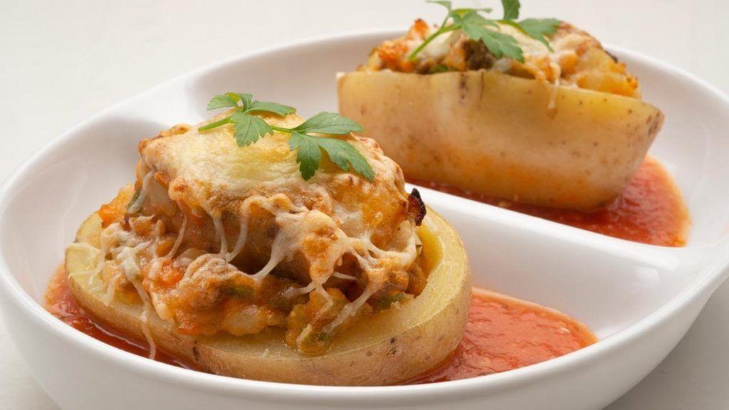 Patatas rellenas de carne con Thermomix