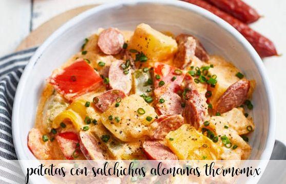 patatas con salchichas alemana con thermomix