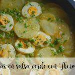Patatas en salsa verde con Thermomix