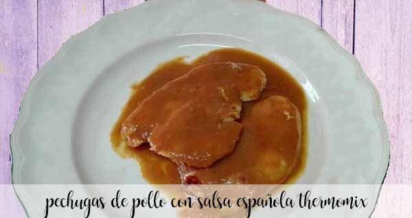 Pechugas de pavo en salsa española con Thermomix