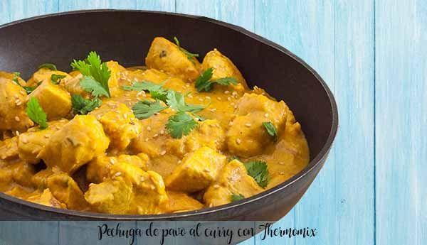 Pechuga de pavo al curry con Thermomix