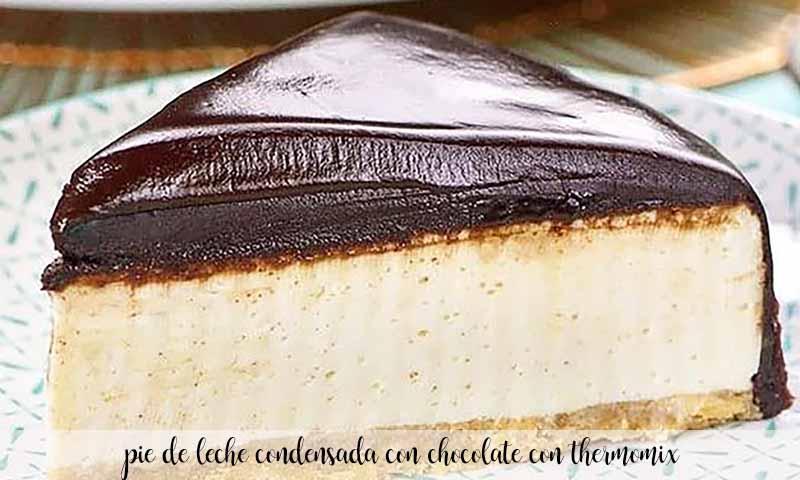 pie de leche condensada con chocolate con thermomix