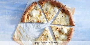 Pizza 4 quesos con thermomix