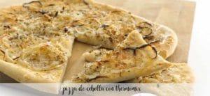 Pizza de cebolla con Thermomix