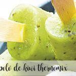 Polo de kiwi y leche de coco con thermomix