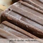 polos de chocolate con thermomix