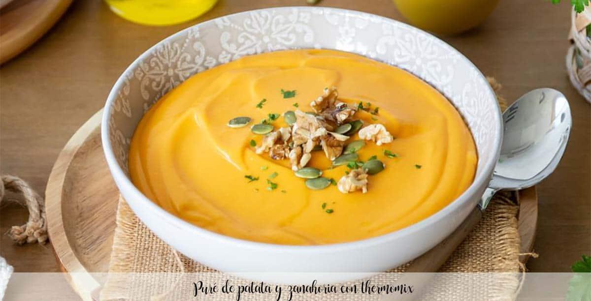Puré de patata y zanahoria con thermomix