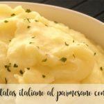 Puré de patatas italiano al parmesano con Thermomix