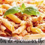 20 recetas de macarrones con thermomix