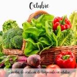 recetas de verduras de temporada en octubre