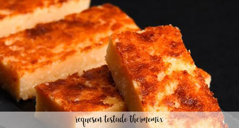 Requesón tostado con thermomix