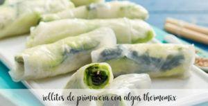 Rollitos de primavera con algas con Thermomix
