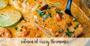 Salmón al curry con thermomix