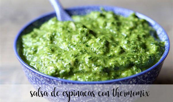 Salsa de espinacas con Thermomix
