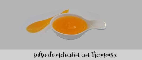 Salsa de melocotón con thermomix