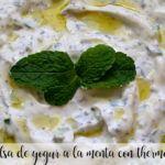 Salsa de yogur a la menta con thermomix
