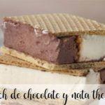 Sándwich helado de chocolate y nata con Thermomix