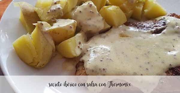 Secreto ibérico con salsa con Thermomix