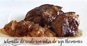 Solomillo de cerdo con salsa de soja con thermomix