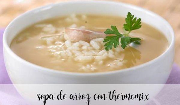 Sopa de arroz con thermomix
