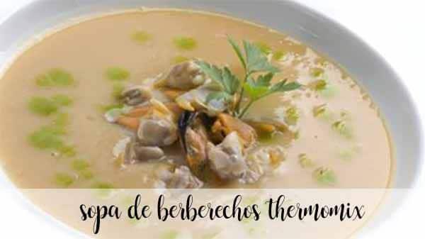 Sopa de berberechos Thermomix