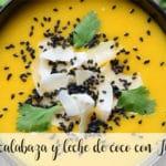 Sopa de calabaza y leche de coco con Thermomix