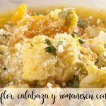 Sopa de coliflor, calabaza y romanescu con Thermomix