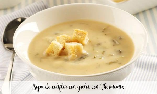 Sopa de coliflor con grelos con Thermomix