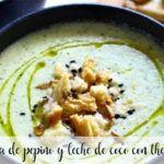 Sopa fria de pepino y leche de coco con thermomix