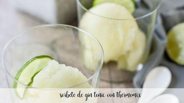 sorbete de gin tonic con thermomix