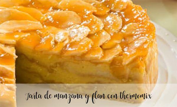 Tarta de manzana y flan con thermomix
