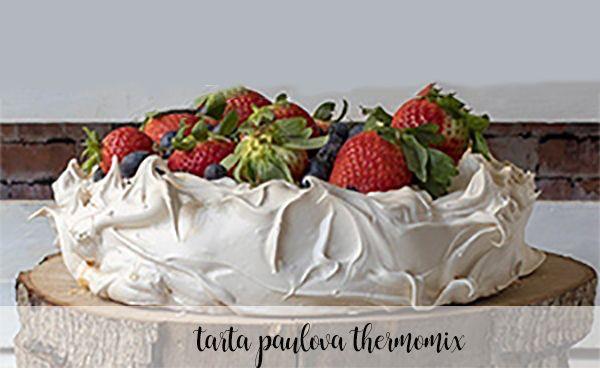Tarta Pavlova con Thermomix