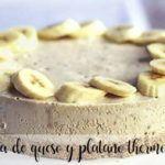 tarta de queso y platano thermomix