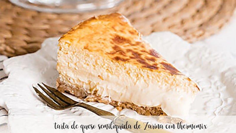 tarta de queso semilíquida de Zarina con thermomix