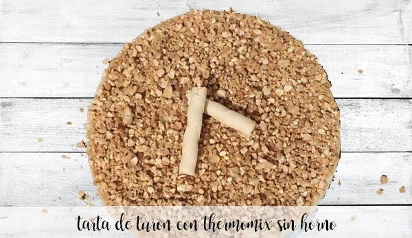 Tarta de Turron sin horno con thermomix