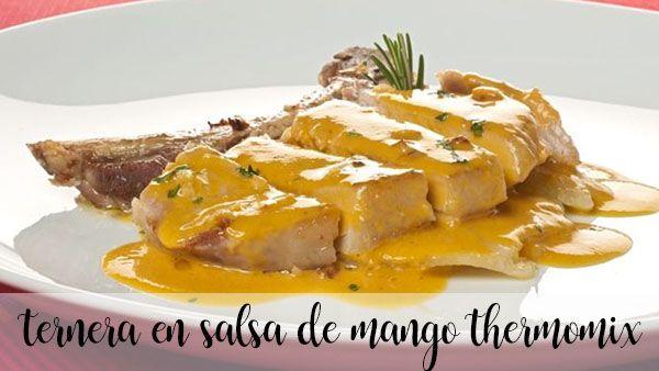 Ternera con salsa de mango Thermomix