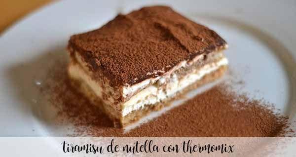 Tiramisú de Nutella con Thermomix