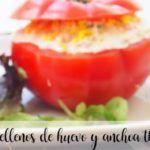 Tomates rellenos de huevos y anchoas con Thermomix