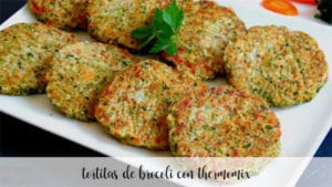 tortitas de brocoli con thermomix