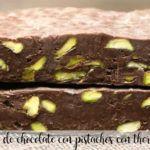 turron de chocolate con pistachos con thermomix