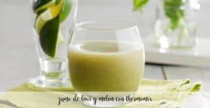 zumo detox de melon y kiwi con thermomix